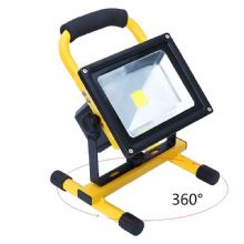 Portable Rechargeable LED Flood Light Work Site Light Camping with Car Charger